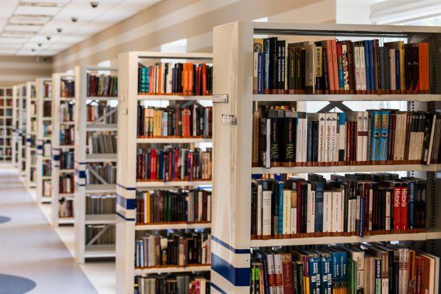 Una biblioteca similar a donde estudiaba